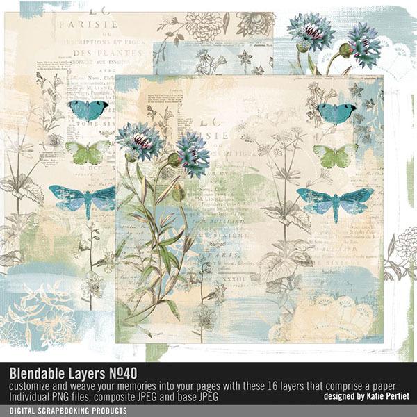 Blendable Layers No. 40 Digital Art - Digital Scrapbooking Kits