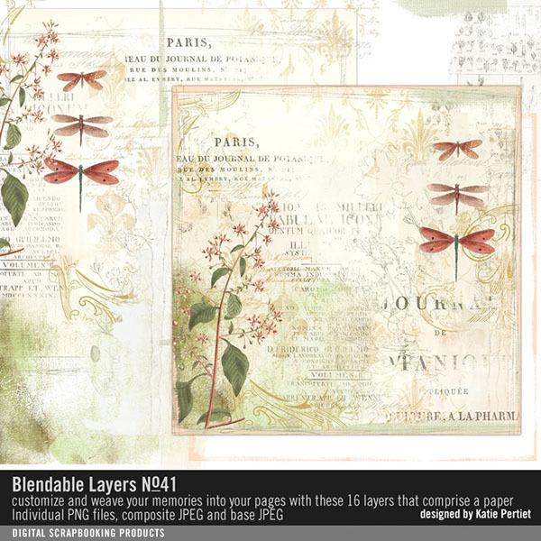 Blendable Layers No. 41 Digital Art - Digital Scrapbooking Kits