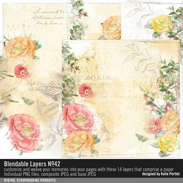 Blendable Layers No. 42 Digital Art - Digital Scrapbooking Kits