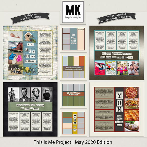 This Is Me Project - May 2020 Edition Digital Art - Digital Scrapbooking Kits