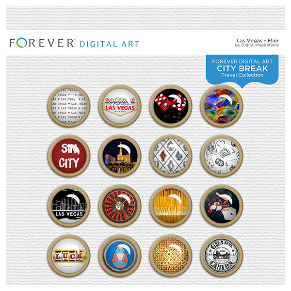 City Break - Las Vegas -  Flair Digital Art - Digital Scrapbooking Kits