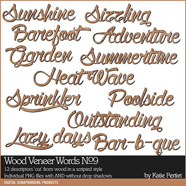 Wood Veneer Words No. 09 Digital Art - Digital Scrapbooking Kits