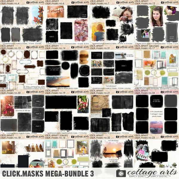 Click.Masks Mega-Bundle 3 Digital Art - Digital Scrapbooking Kits
