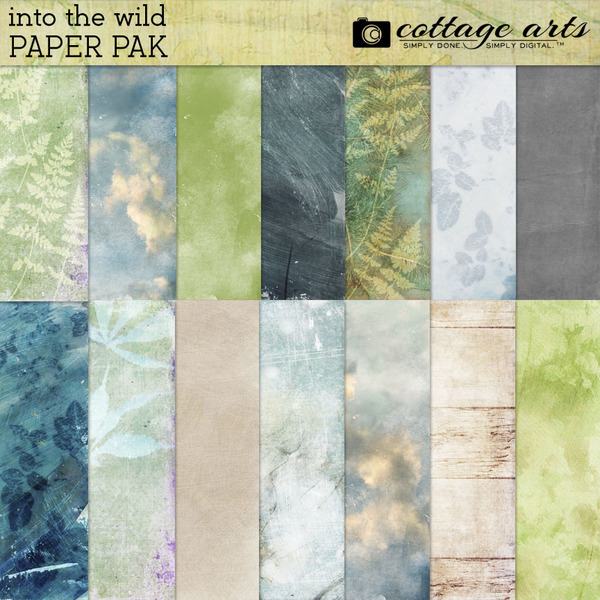 Into the Wild Paper Pak Digital Art - Digital Scrapbooking Kits
