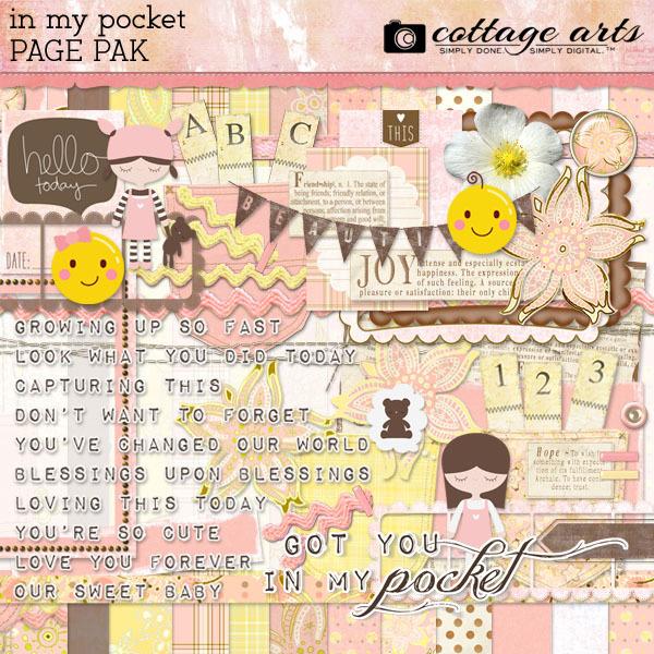 In My Pocket Page Pak Digital Art - Digital Scrapbooking Kits