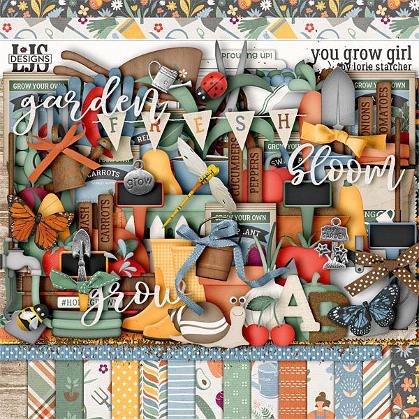 You Grow Girl Digital Art - Digital Scrapbooking Kits