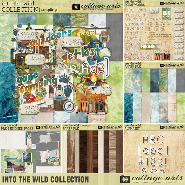 Into the Wild Collection Digital Art - Digital Scrapbooking Kits