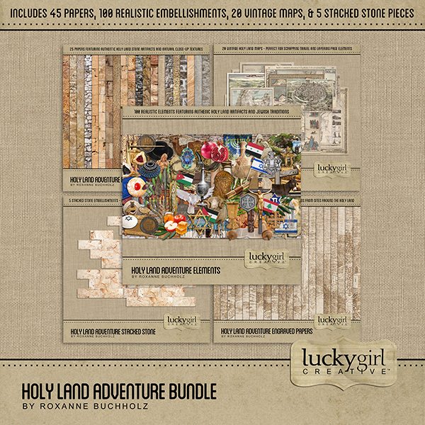 Holy Land Adventure Bundle Digital Art - Digital Scrapbooking Kits