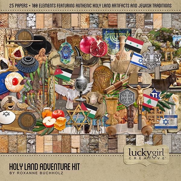 Holy Land Adventure Kit Digital Art - Digital Scrapbooking Kits