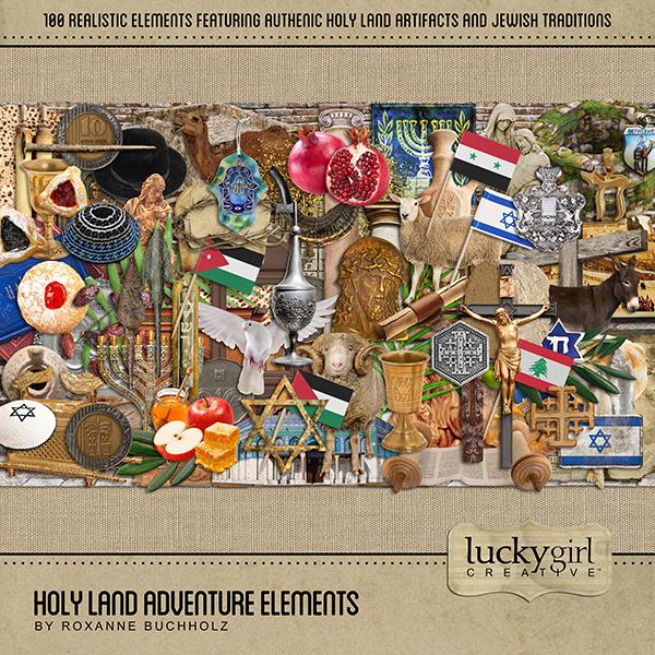 Holy Land Adventure Elements Digital Art - Digital Scrapbooking Kits