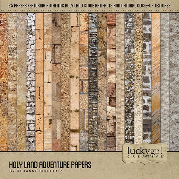 Holy Land Adventure Papers Digital Art - Digital Scrapbooking Kits