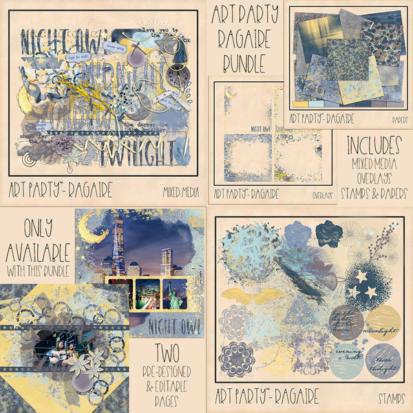 Ragaire Bundle Digital Art - Digital Scrapbooking Kits