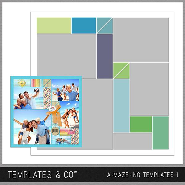 A-MAZE-ING Templates 1 Digital Art - Digital Scrapbooking Kits