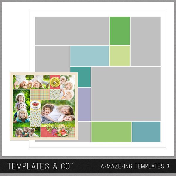A-MAZE-ING Templates 3 Digital Art - Digital Scrapbooking Kits