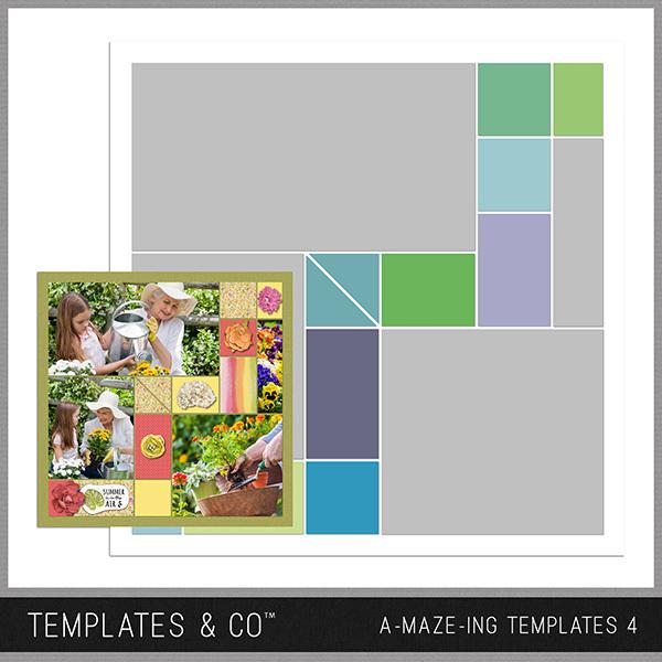 A-MAZE-ING Templates 4 Digital Art - Digital Scrapbooking Kits