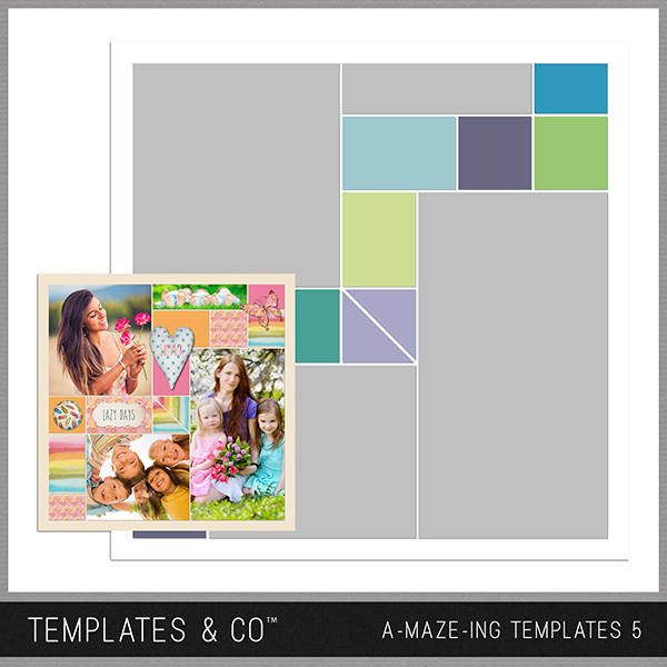 A-MAZE-ING Templates 5 Digital Art - Digital Scrapbooking Kits