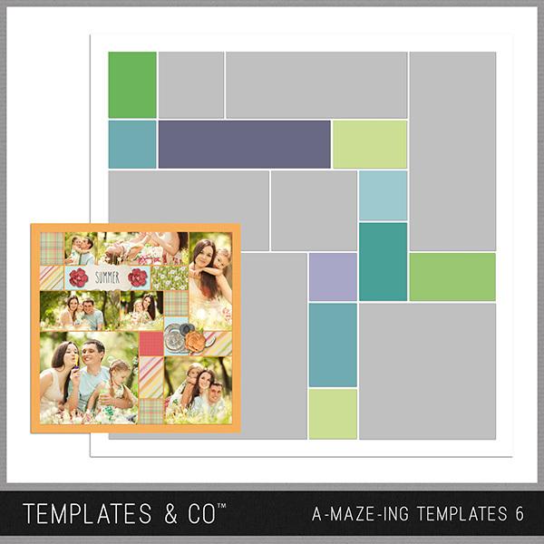 A-MAZE-ING Templates 6 Digital Art - Digital Scrapbooking Kits