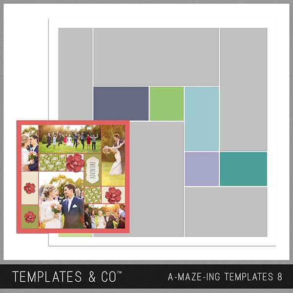 A-MAZE-ING Templates 8 Digital Art - Digital Scrapbooking Kits