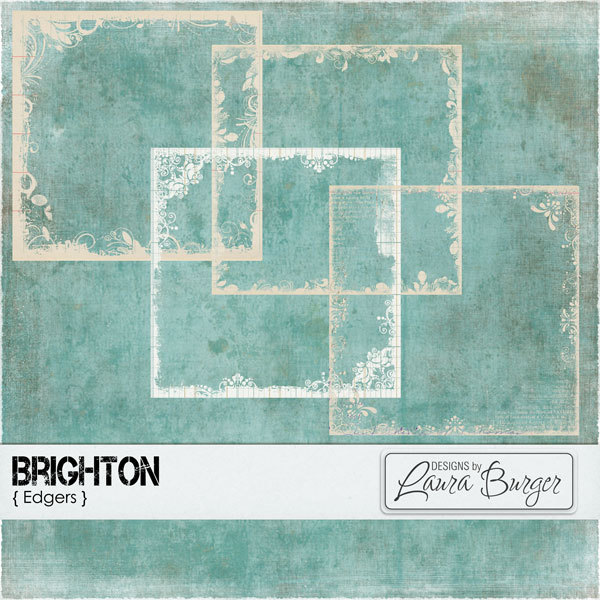 Brighton Edgers Digital Art - Digital Scrapbooking Kits
