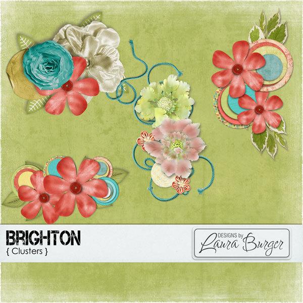 Brighton Clusters Digital Art - Digital Scrapbooking Kits