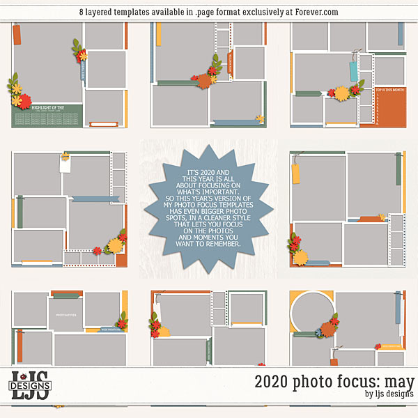 2020 Photo Focus - May Digital Art - Digital Scrapbooking Kits