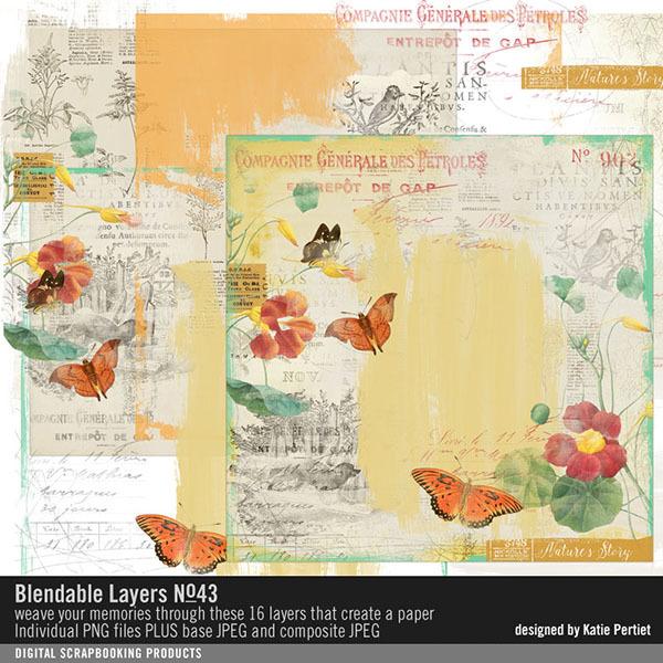 Blendable Layers No. 43 Digital Art - Digital Scrapbooking Kits