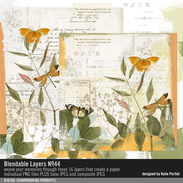 Blendable Layers No. 44 Digital Art - Digital Scrapbooking Kits