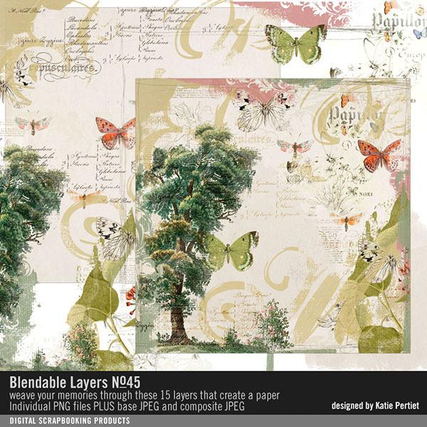 Blendable Layers No. 45 Digital Art - Digital Scrapbooking Kits