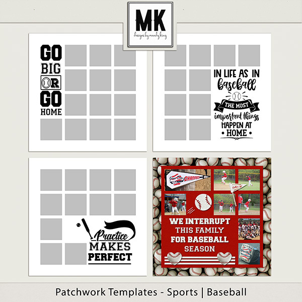 Patchwork Templates - Sports - Baseball