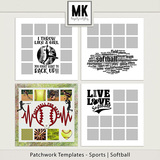 Patchwork Templates - Sports - Softball