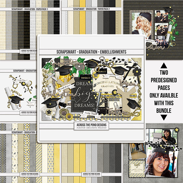 ScrapSmart - Graduation - Bundle Digital Art - Digital Scrapbooking Kits