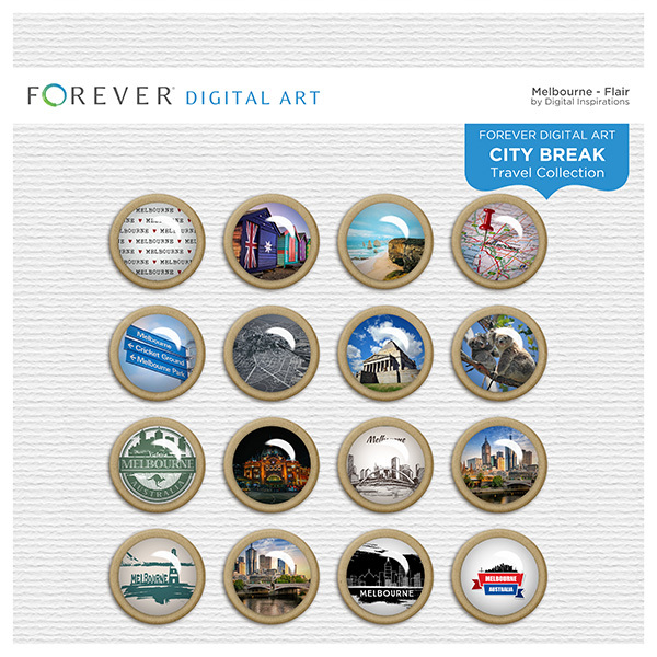 City Break - Melbourne -  Flair Digital Art - Digital Scrapbooking Kits