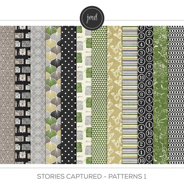 Stories Captured - Patterns 1 Digital Art - Digital Scrapbooking Kits
