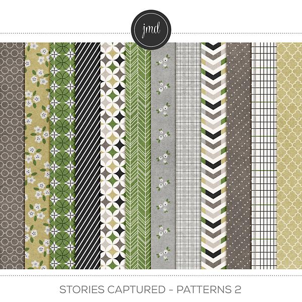 Stories Captured - Patterns 2 Digital Art - Digital Scrapbooking Kits