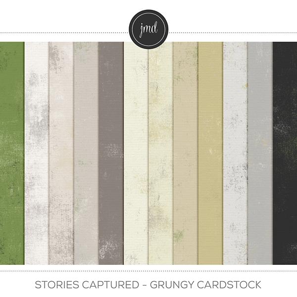Stories Captured - Grungy Cardstock Digital Art - Digital Scrapbooking Kits