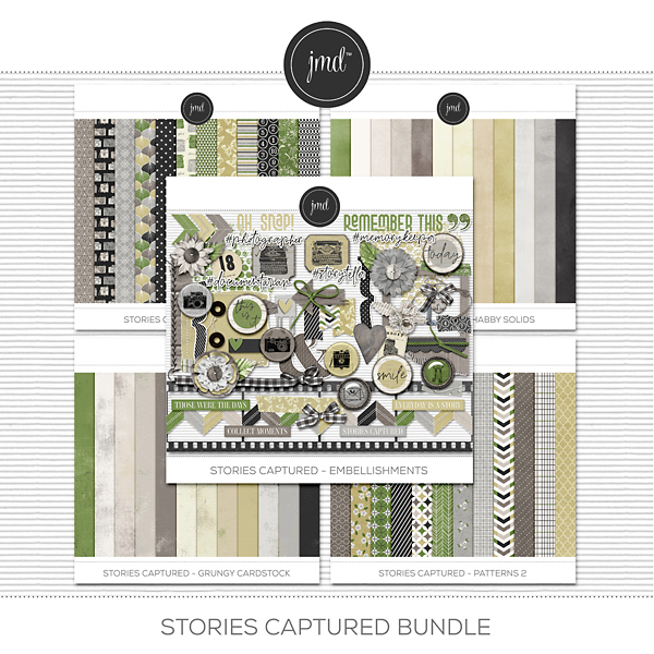 Stories Captured Bundle Digital Art - Digital Scrapbooking Kits