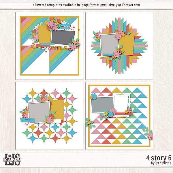 4 Story 6 Digital Art - Digital Scrapbooking Kits