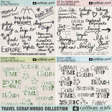 Travel Scrap.Words Collection
