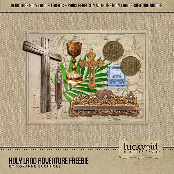 Holy Land Adventure Freebie Digital Art - Digital Scrapbooking Kits