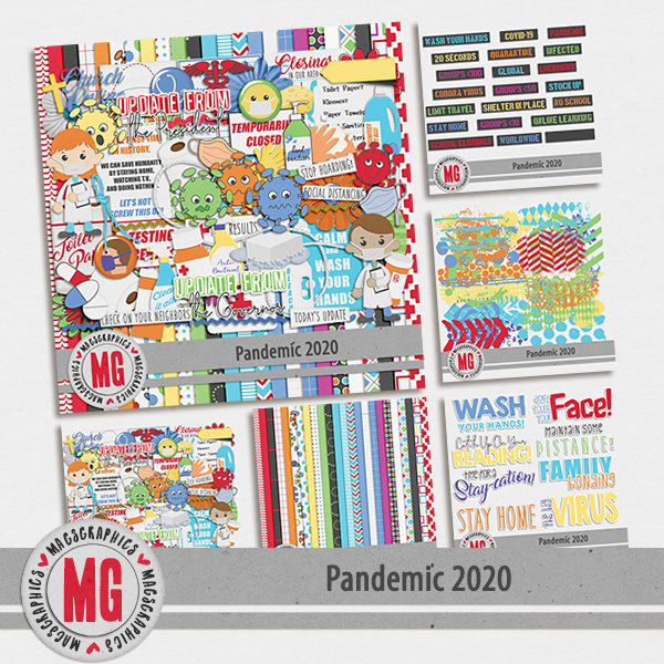 Pandemic 2020 Bundle Digital Art - Digital Scrapbooking Kits