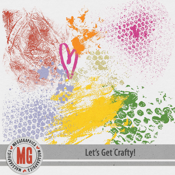 Let's Get Crafty Hodge Podge Digital Art - Digital Scrapbooking Kits