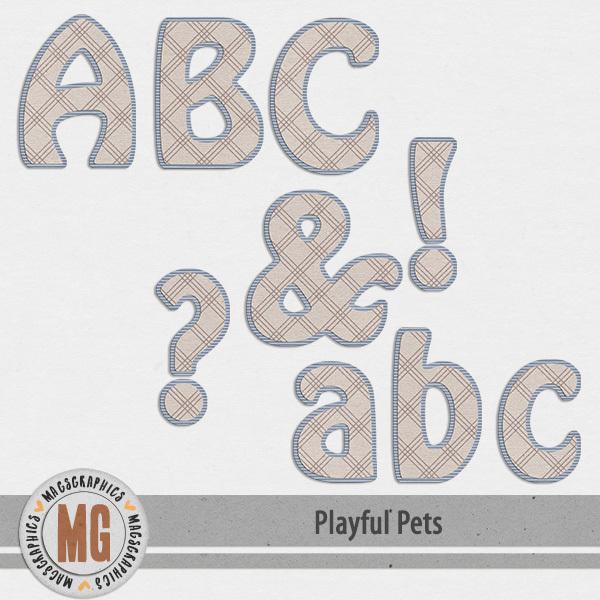 Playful Pets Alpha Digital Art - Digital Scrapbooking Kits