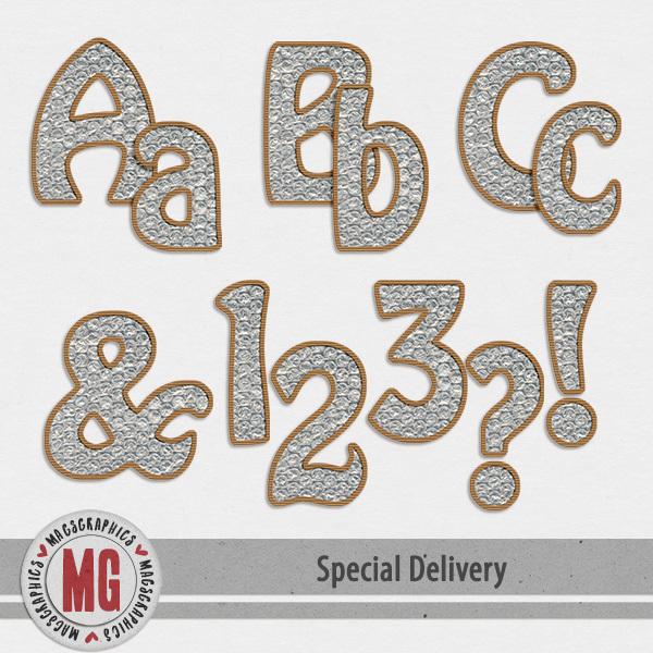 Special Delivery Bubble Wrap Alpha Digital Art - Digital Scrapbooking Kits