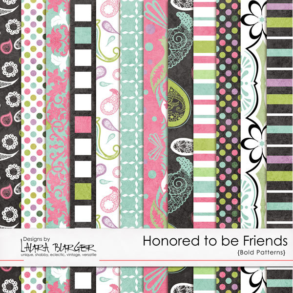 Honored to Be Friends Bold Papers Digital Art - Digital Scrapbooking Kits