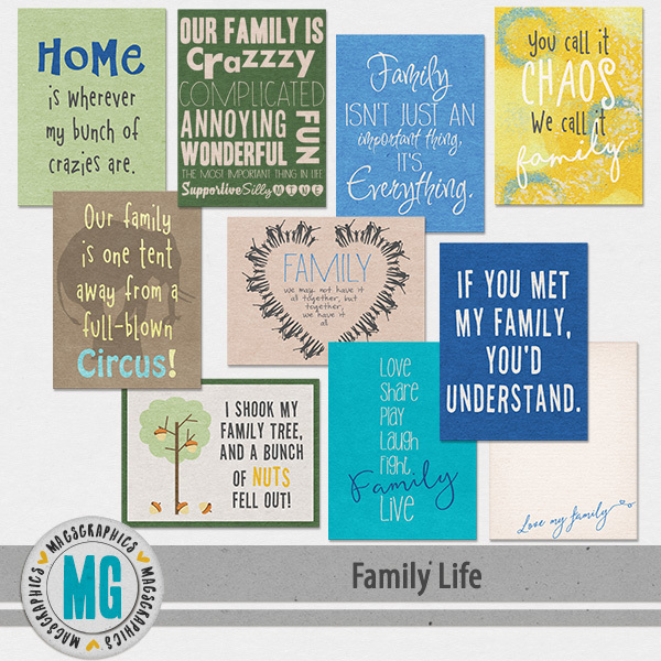 Family Life Journal Cards