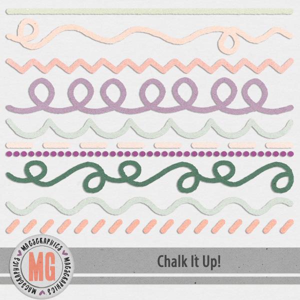 Chalk It Up Chalked Lines Digital Art - Digital Scrapbooking Kits
