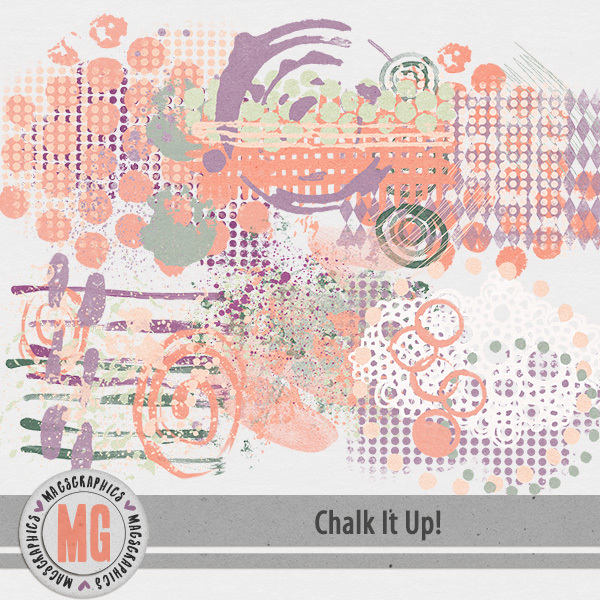 Chalk It Up Hodge Podge Digital Art - Digital Scrapbooking Kits