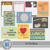 On The Menu Journal Cards