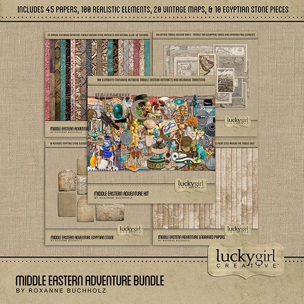 Middle Eastern Adventure Bundle Digital Art - Digital Scrapbooking Kits