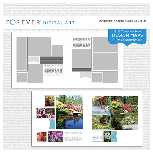 Forever Design Maps 48 - 12x12 Digital Art - Digital Scrapbooking Kits